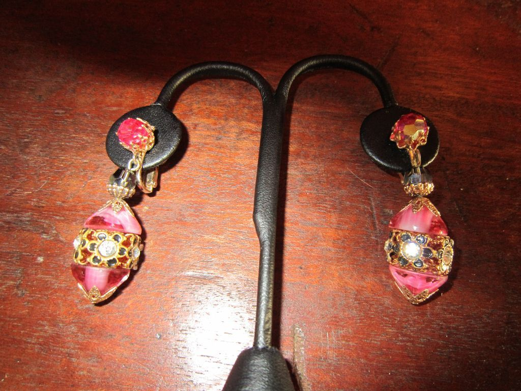 Vendome  Pink Dangle Earrings