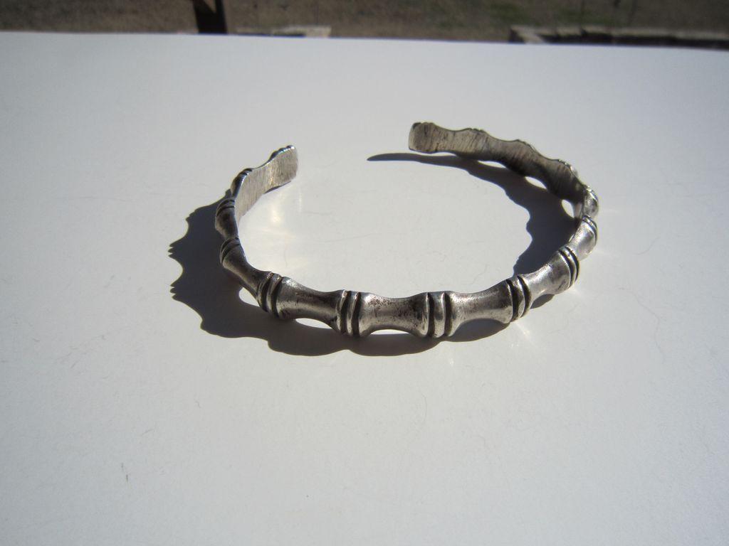 Sterling Bamboo Cuff Bracelet