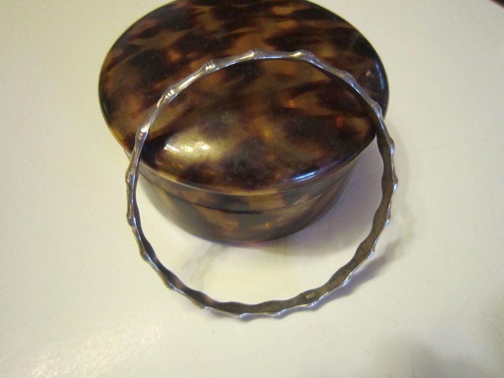 Sterling Bamboo Bangle Bracelet