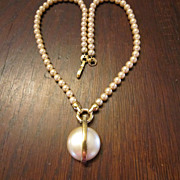 Kunio Matsumoto Pearl Necklace with Pendant