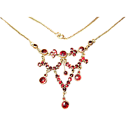 Genuine Edwardian Garnet Necklace