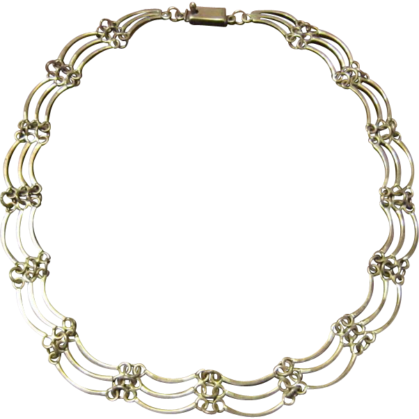 Taxco Sterling Feminine Necklace