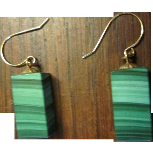 Malachite Dangle Earrings