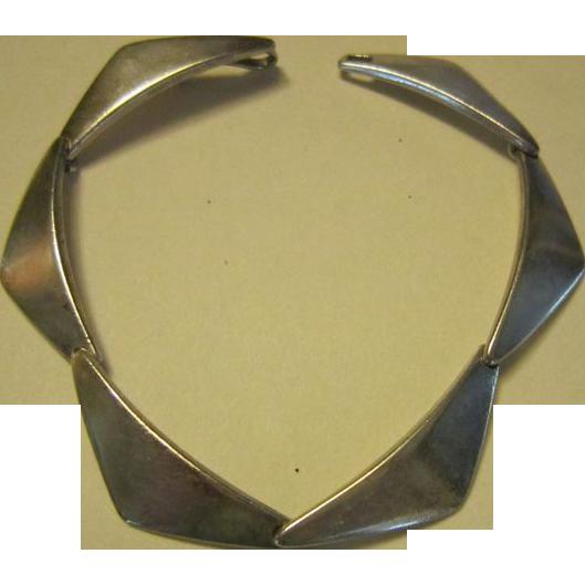 Hans Hansen Sterling Boomerang Bracelet