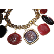 Watch Fobs Charm Bracelet - 1/20 Gold  Filled
