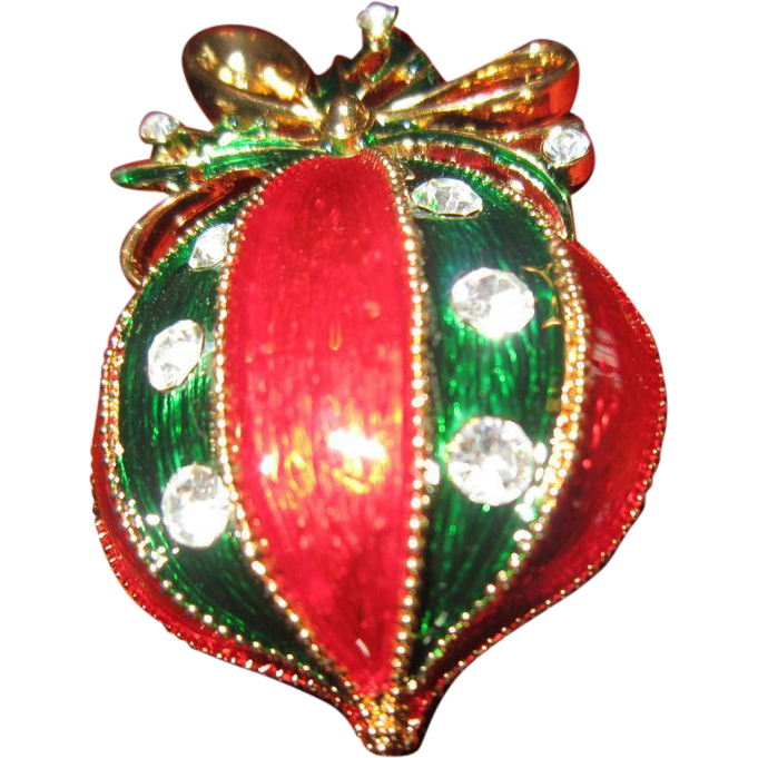 Eisenberg Ice Christmas Ornament with Enamel