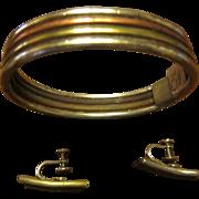 Los Castillo Mixed Metals Bracelet and Earrings
