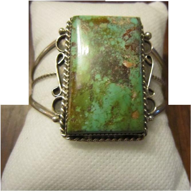 Navajo Royston Turquoise Sterling Bracelet