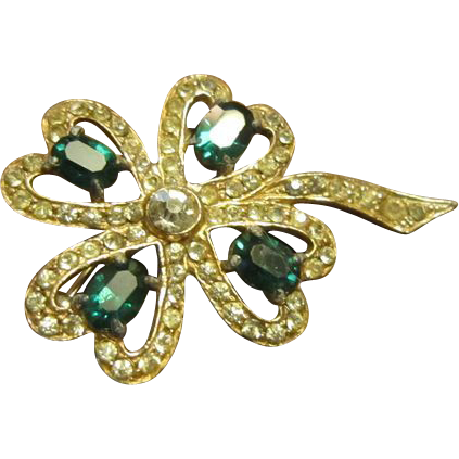 Wiesner Four Leaf Clover with Rhinestones