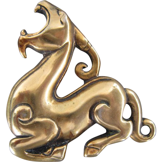 Roaring Ram Brooch/Pendant for the Chinese Year of the Ram/Sheep