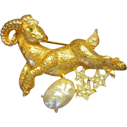 Chinese New Year of the Ram/Sheep Brooch