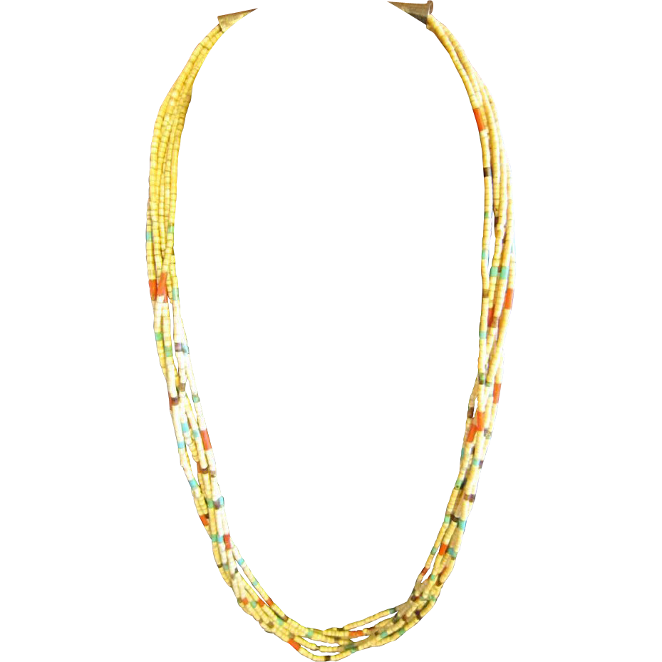 Santo Domingo Heishi Gold Lipped Shell Necklace