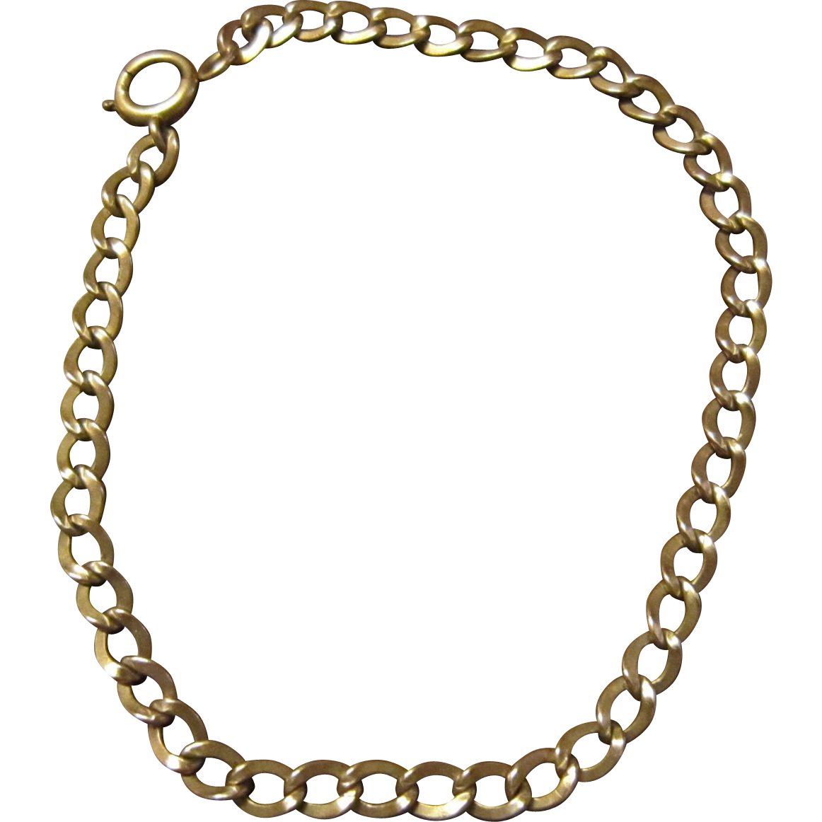 14K Gold Single Link Charm Bracelet for Gold Charms
