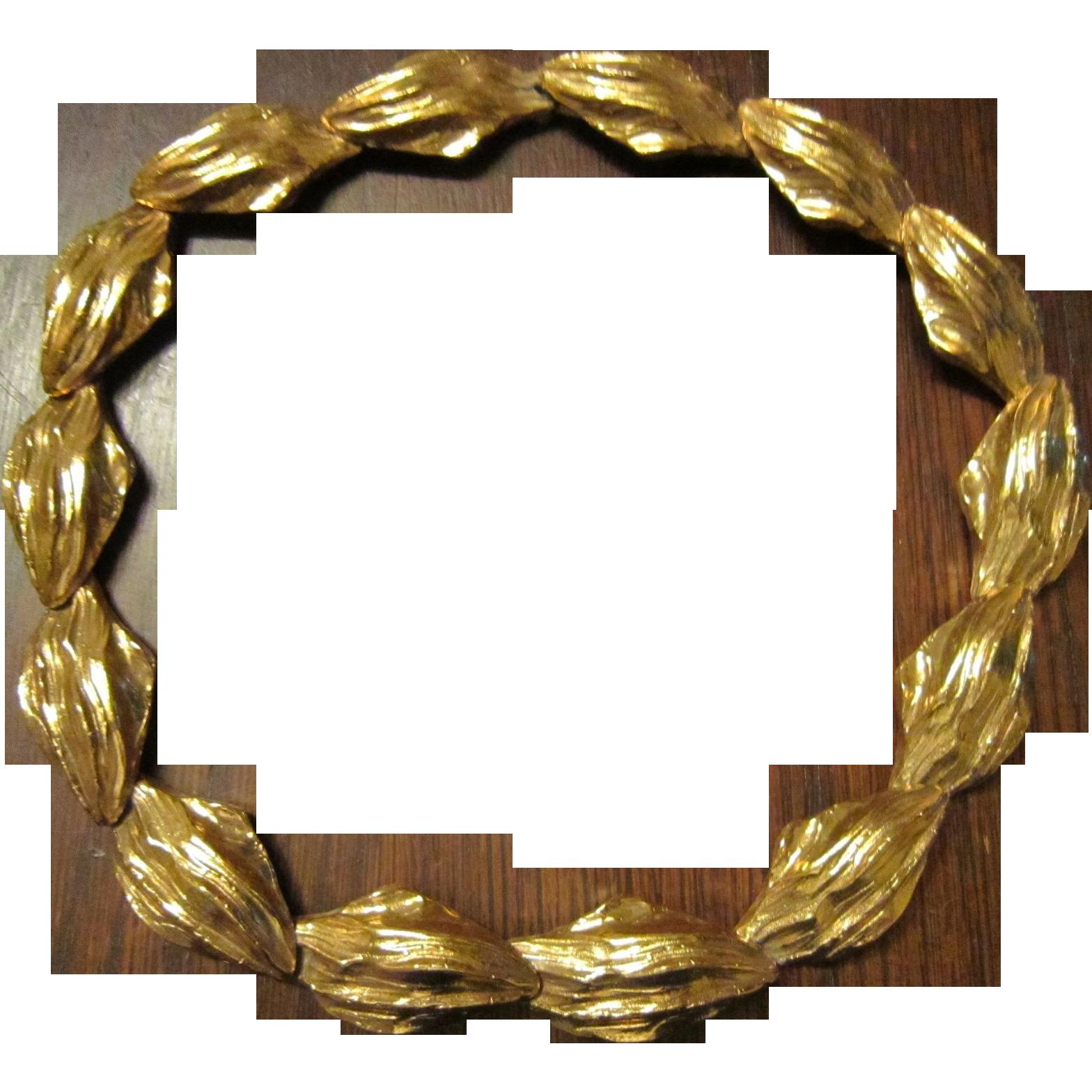 SAVE $150: Yves Saint Laurent  Gold Plated Leaf Necklace and Bracelet