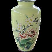 HOLD FOR SARAH: Japanese Enamel Cloisonne Vase with Hidden Wires