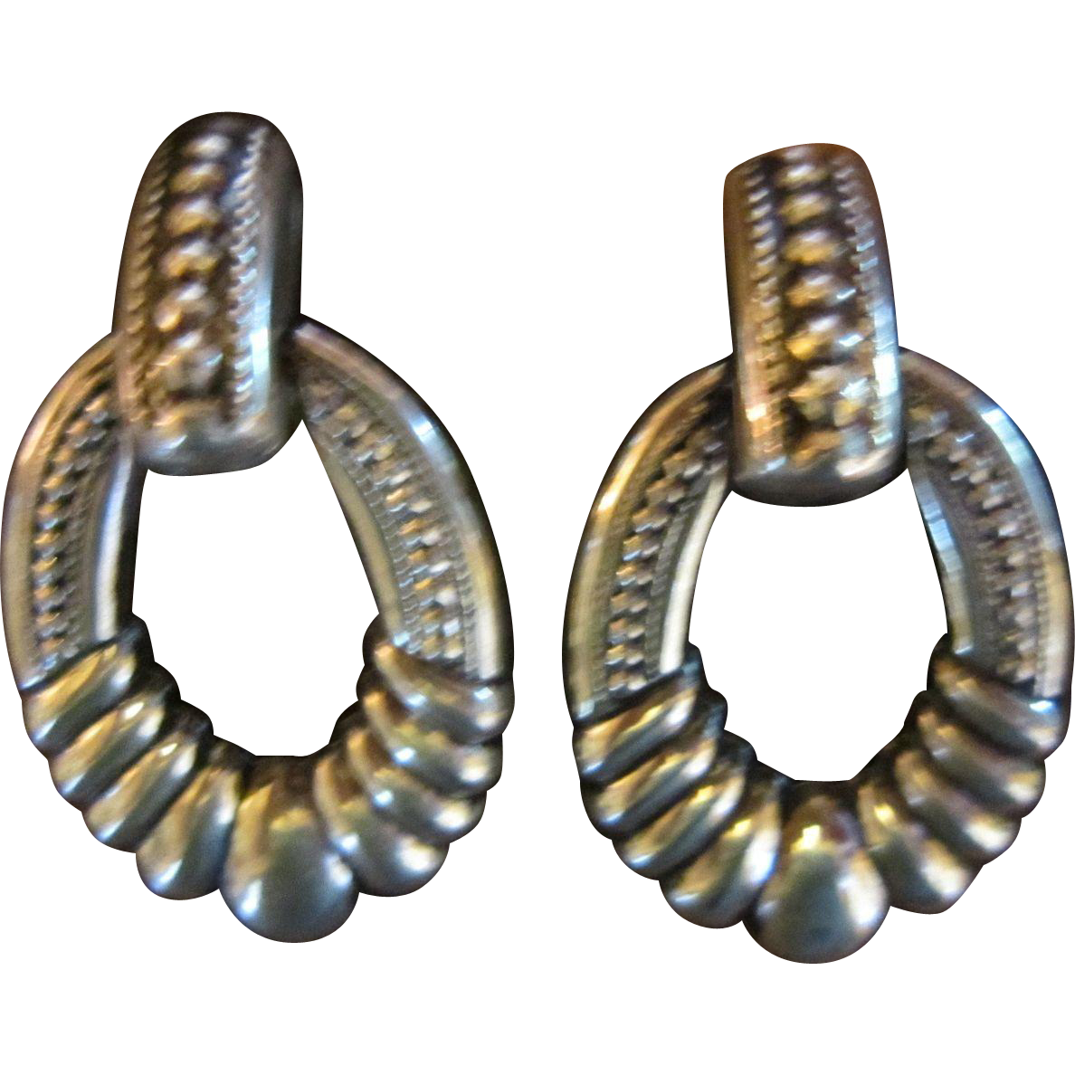 Southwestern Silver Plated Dangle Earrings