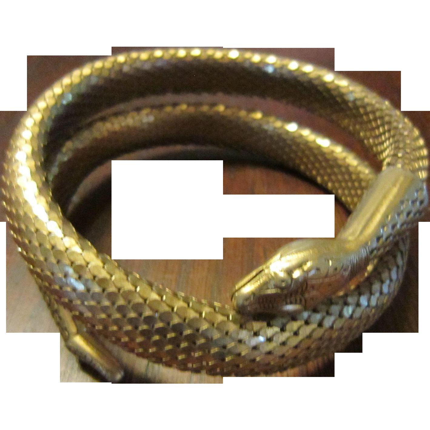 Whiting and Davis Upper Arm Snake Mesh Bracelet