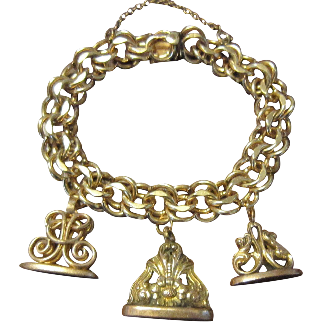 Gold Filled Watch Fob  on Elco Charm Bracelet