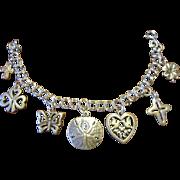 James Avery Medium Twist Charm Bracelet with 7 Avery Charms