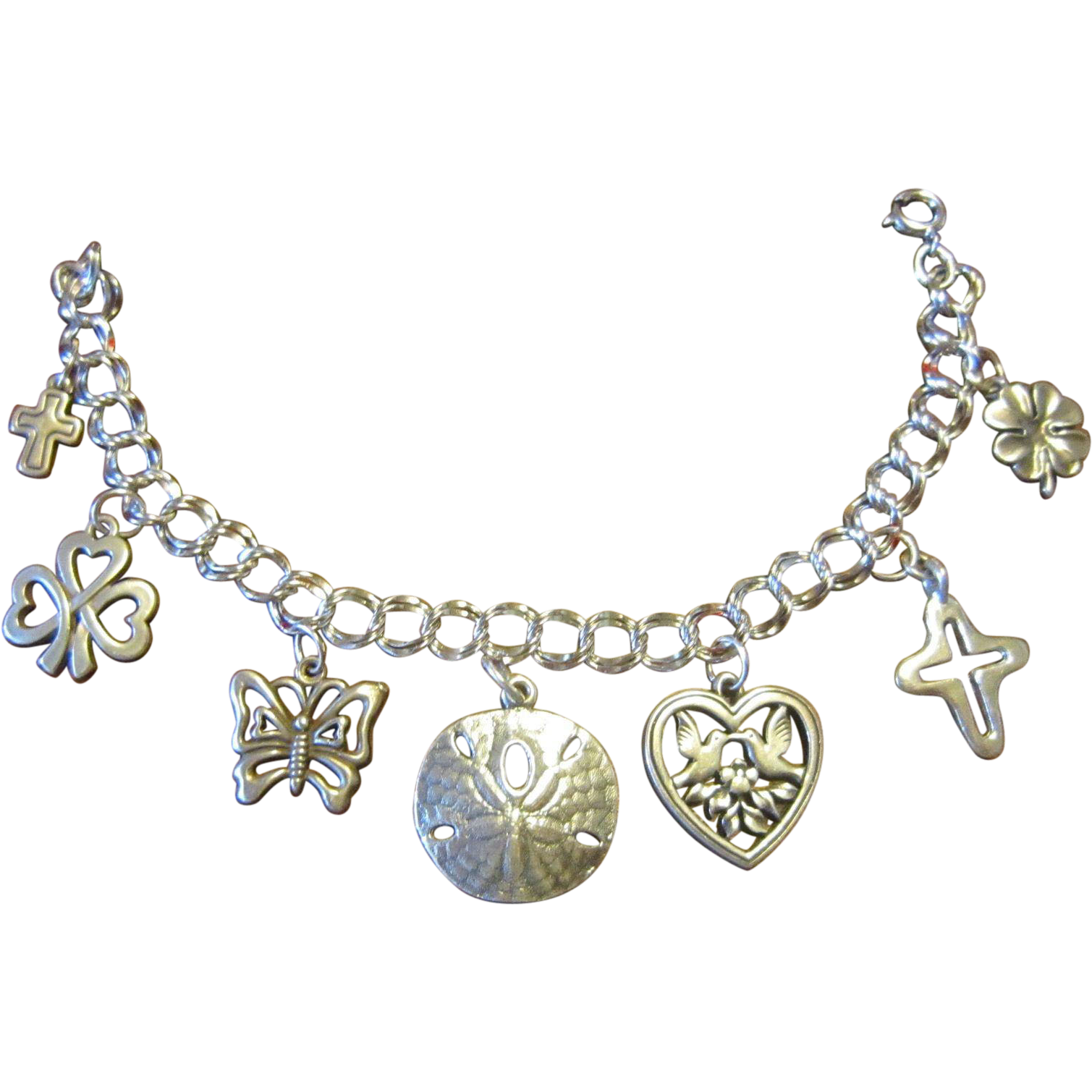 James Avery Medium Twist Charm Bracelet with 7 Avery Charms