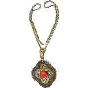 Vrba for Castlecliff Native American Large Pendant and Necklace