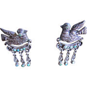 MATL Sterling Dove Earrings with Turquoise