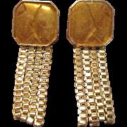 Kunio Matsumoto Gold Tone and Enamel Earrings