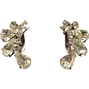 Weiss Clear Rhinestone Earrings - Climbers
