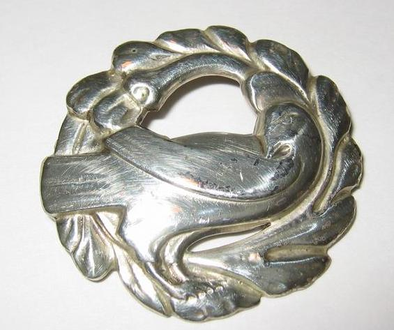 Rare Coro Norseland Sterling Dove Brooch
