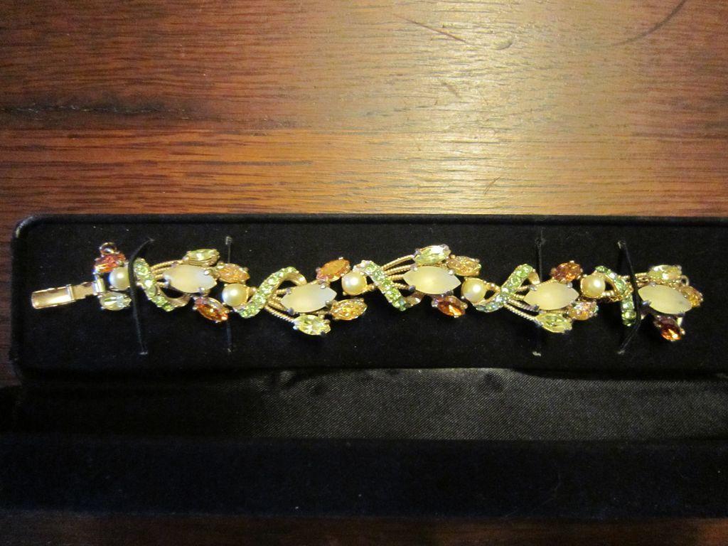 SALE Breathtaking Schiaparelli Rhinestone Wrapped Bracelet
