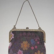 Micro Beaded Purse with a Field of Flowers