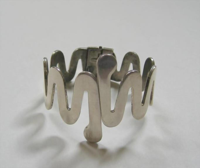 Renoir Sauteur Modernist Sterling Silver Bracelet