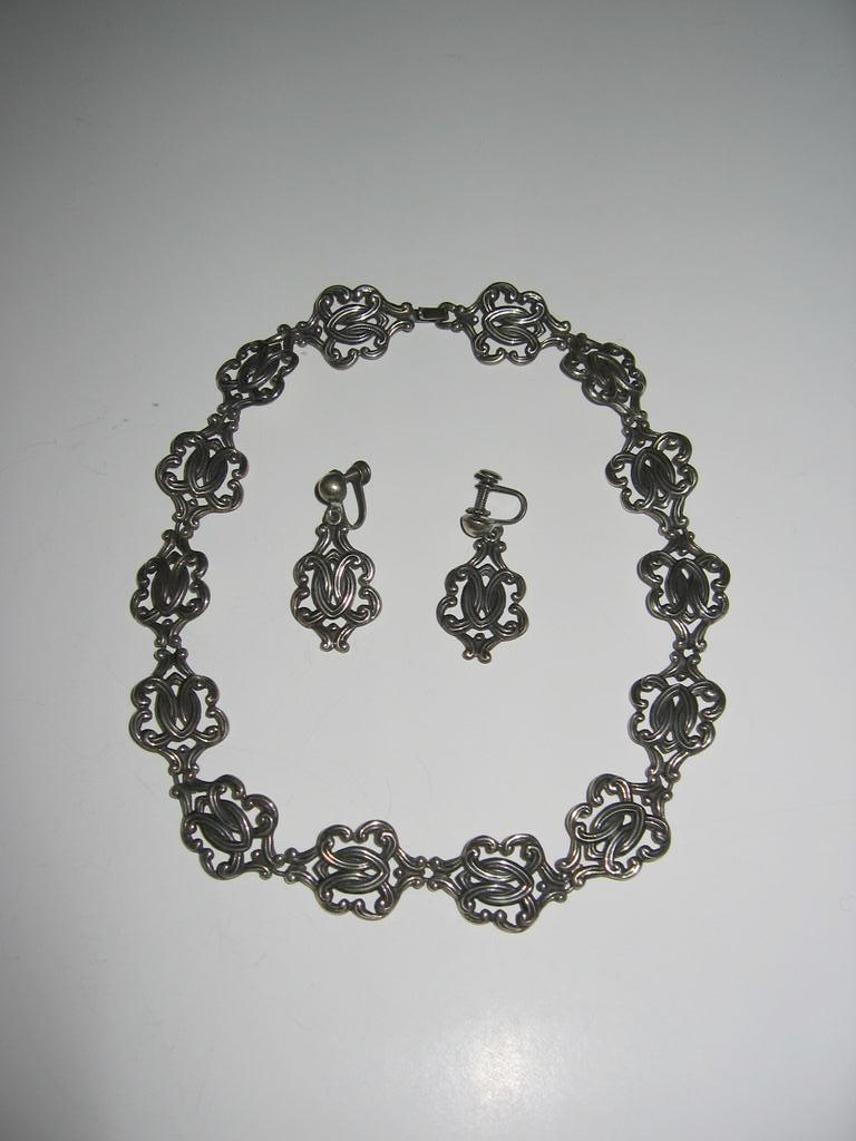 SALE: Pedro Castillo Exquisite Sterling Necklace and Earrings