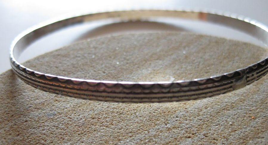 Vintage Sterling Bangle Bracelet