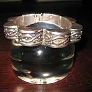 Los Castillo Repousse Sterling Link Bracelet