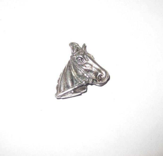 Danecraft  Sterling 3-D Horse Head Charm