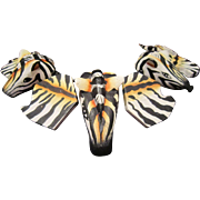 Monies Lynggaard Zebra Painted Wood Necklace