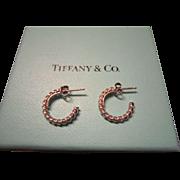 Tiffany Sterling Twist Hoop Post Earrings