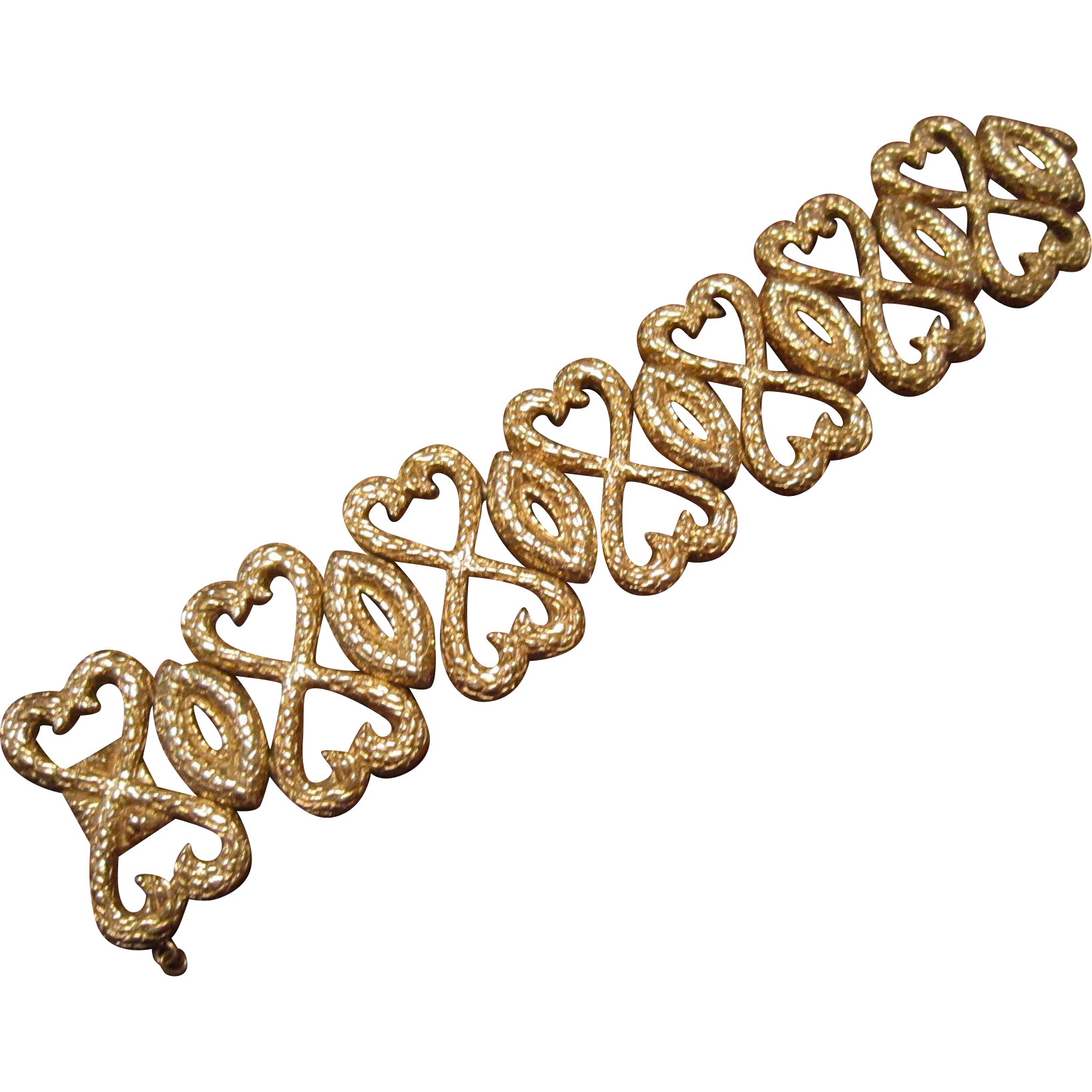 Ciner Heartful Snakes Gold Plate Bracelet