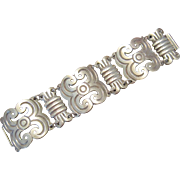 Early Mexico Sterling Bracelet with pre-Hispanic Motifs