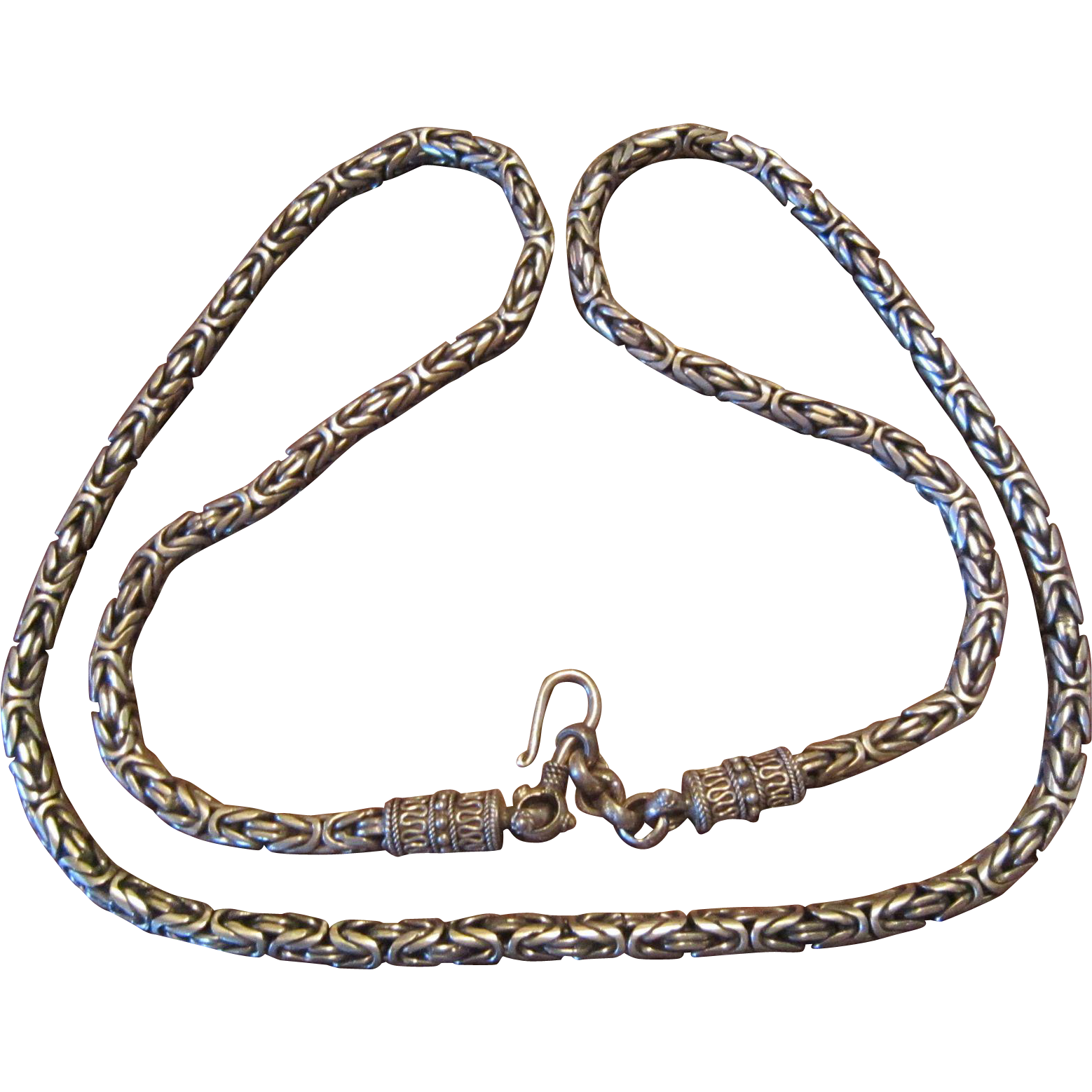 Bali Sterling Long Necklace