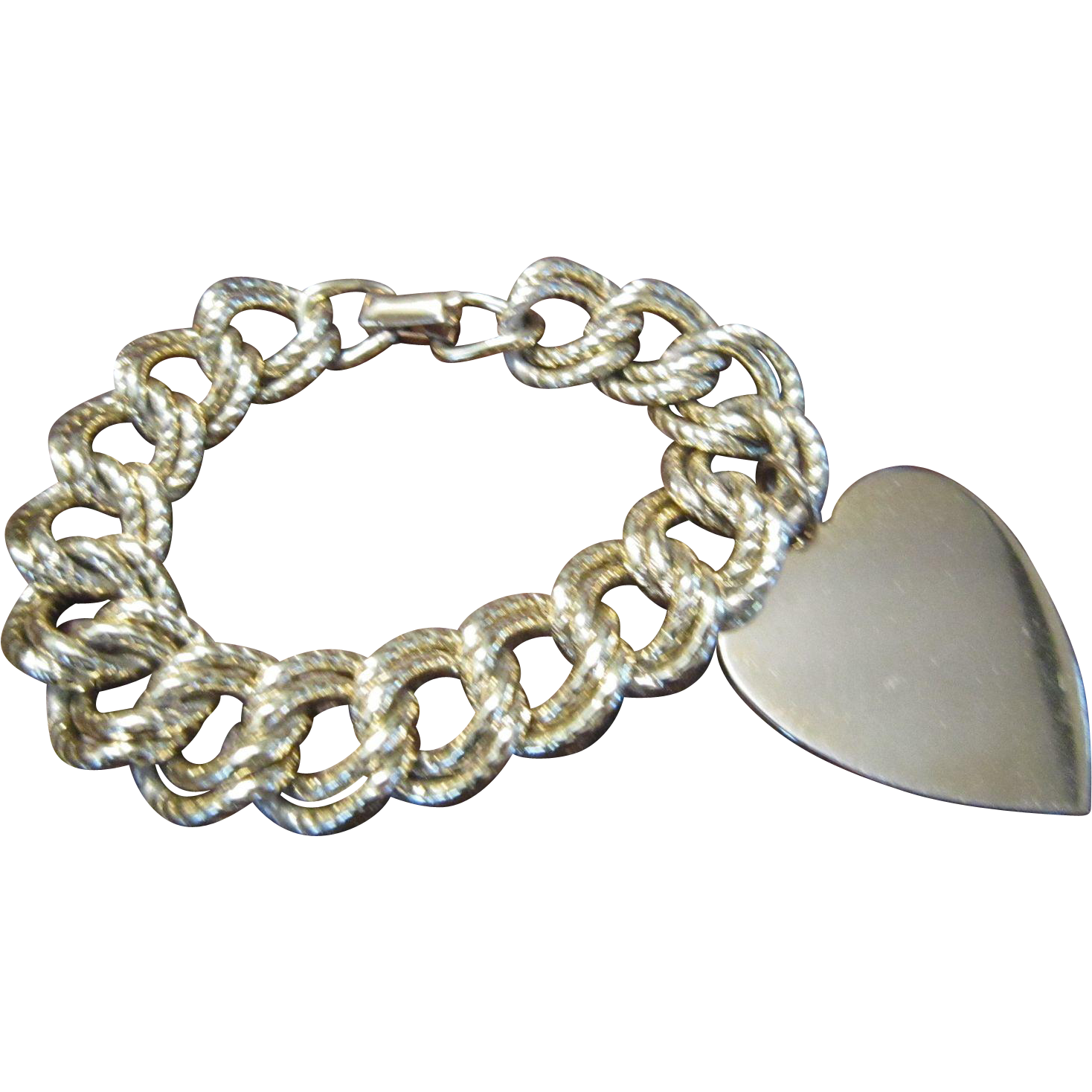 Coro Charm Bracelet with Large Heart