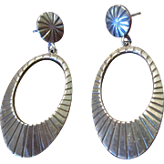 Mexican Sterling Drop Earrings with a Southwestern Flair