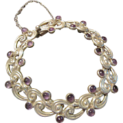 SOLD: Margot de Taxco Sterling and Amethyst Bracelet - 5113