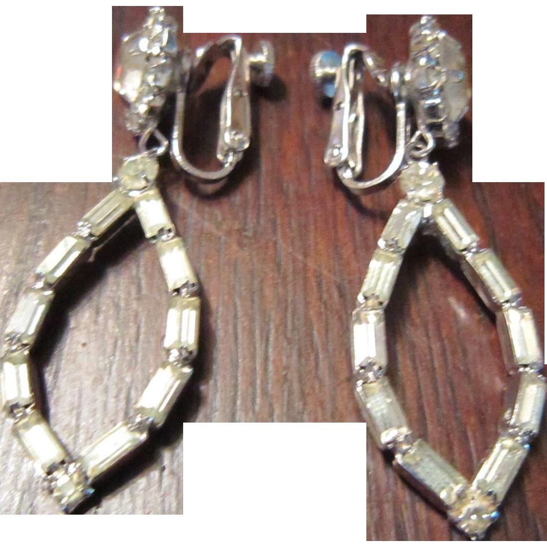 Vendome Clear Rhinestone Earrings