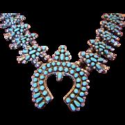 Susie Panteah, Zuni, Squash Blossom Necklace