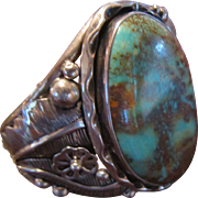 Pilot Mountain Turquoise and Sterling Cuff