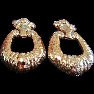 Jose Maria Barrera Avon Corinthian Earrings in Gold Tone
