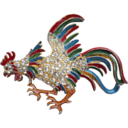 Staret Enamel and Gold Tone Rooster - Book Piece