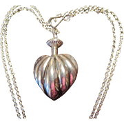 "Sterling Heart Perfumier with Sterling 31"" Chain"
